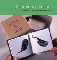 Cover for the catalogue for the exhibition Printed in Norfolk.
