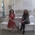 Printed in Norfolk organiser, Helen Mitchell with Site Gallery Artistic Director, Laura Sillars.