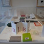 Vitrine in the Poetry Library.